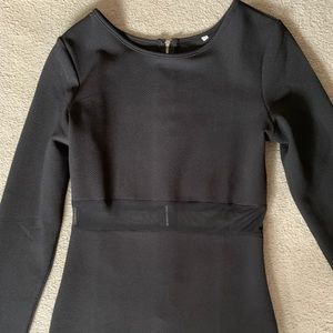 Dresses & Skirts - Brand New Long Sleeve Dress with Mesh at Midriff